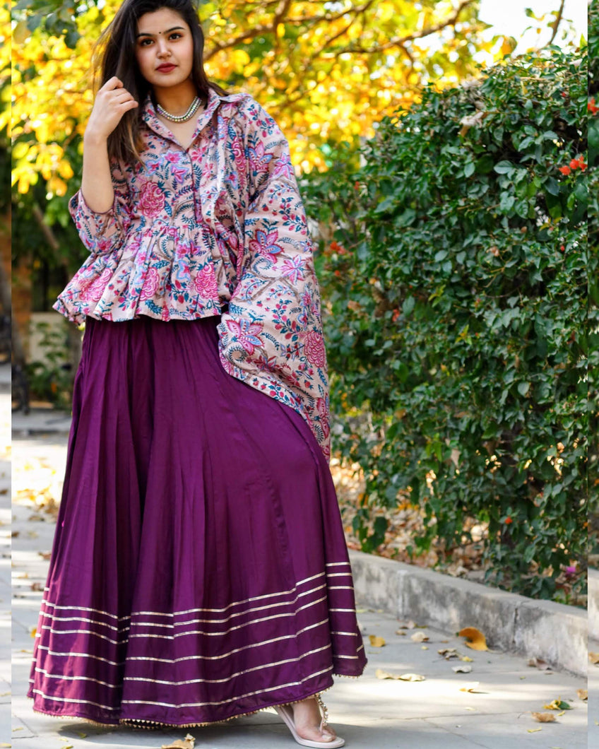Purple Diva Lehenga Set - Pink Official