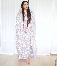 Load image into Gallery viewer, Floral White Loungewear Kaftan - Qamsin