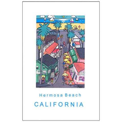 Daniel Randolph Travel Poster Hermosa Beach