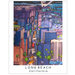 Daniel Randolph Travel Poster Long Beach California