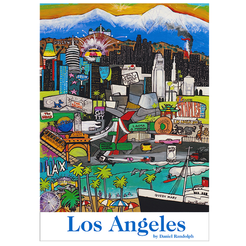 Daniel Randolph Travel Poster Los Angeles