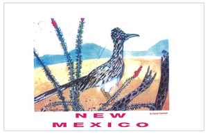 Daniel Randolph Travel Poster New Mexico roadrunner