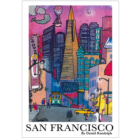 Daniel Randolph Travel Poster San Francisco Broadway