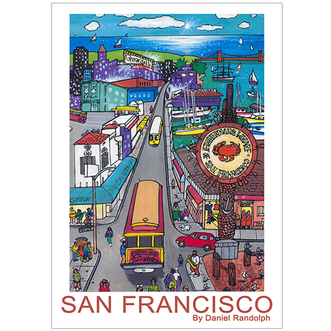 Daniel Randolph Travel Poster Fishermans Wharf