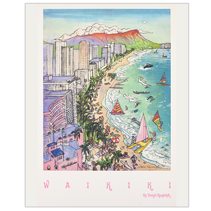 Daniel Randolph Travel Poster Waikiki Hawaii