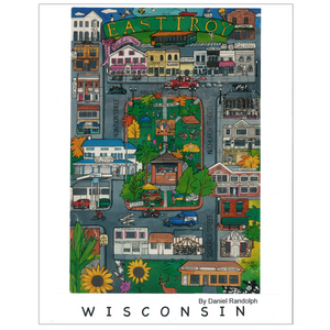 East Troy Wisconsin Travel Poster