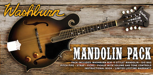 Washburn Guitars♫Mandolin Kit F style♫w/pickup