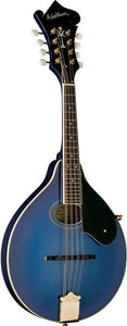 Washburn Guitars♫Americana Series A Style Mandolin♫Trans Blue w/Solid Top