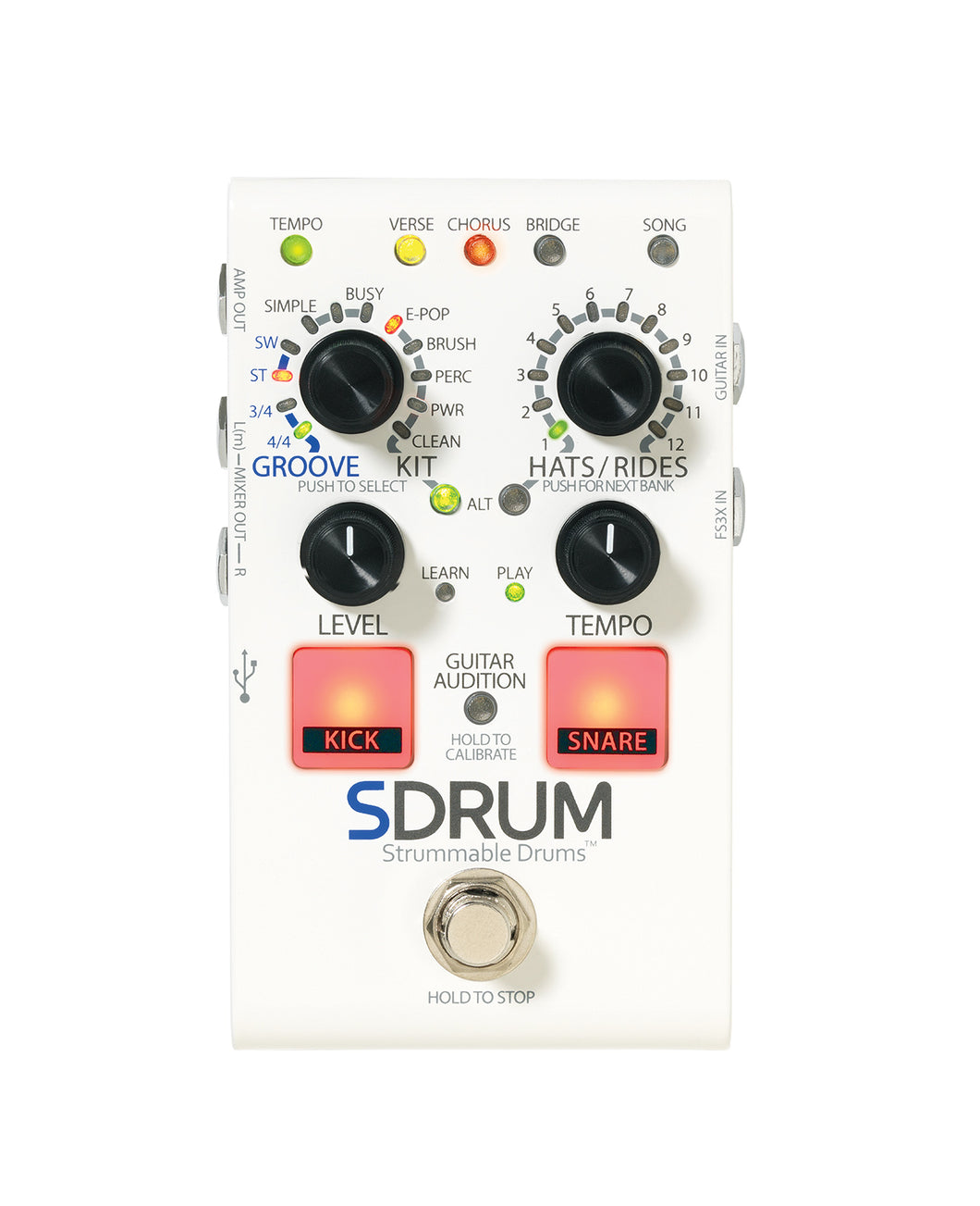 Pedal - Digitech SDRUM Strummable Drum Pedal
