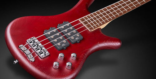 Warwick - RB Corvette 4 Electric Bass Guitar Red Satin with Bag