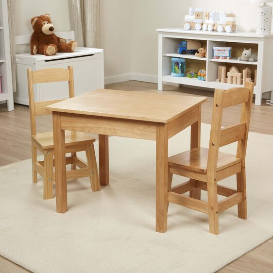 Melissa & Doug Table and Chair Set - Natural