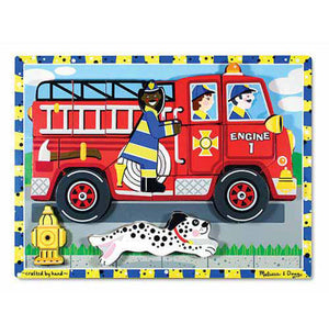 Melissa & Doug Fire Truck Chunky Puzzle - 18 Pieces