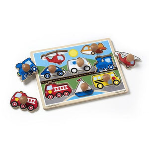 Melissa & Doug Vehicles Jumbo Knob Puzzle - 8 pieces