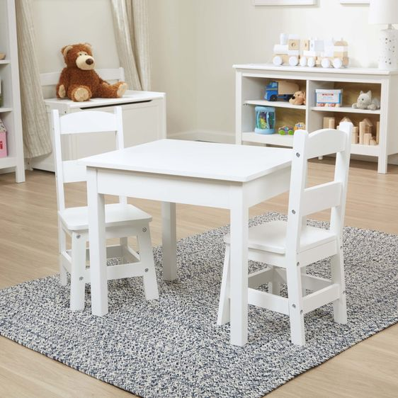 Melissa & Doug Table and Chair Set - White