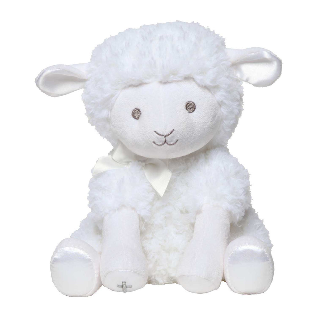 "C.R. Gibson 12"" Plush Musical Wind-Up Toy Lamb - Jesus Loves Me"