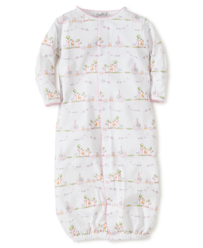 Kissy Kissy Girl's Noah's Print Covertible Gown
