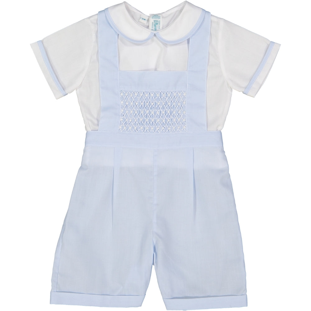 Feltman Brothers Boys Smocked Bib Overall Set