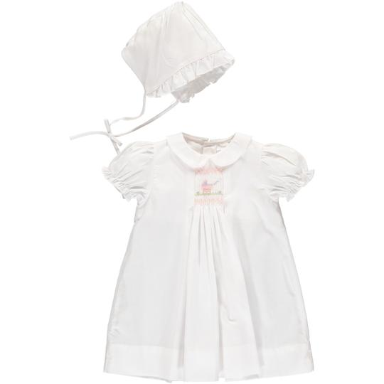 Carriage Boutique White Day Gown and Hat - Carriage Smocking