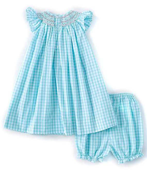 Petit Ami Aqua Bishop Checked Dress