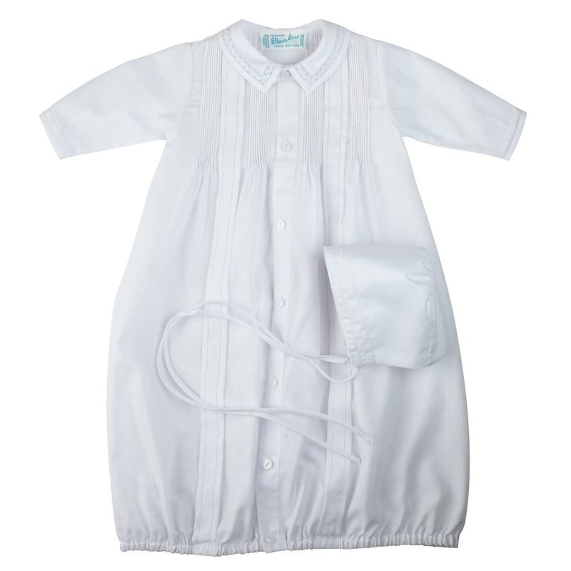 Feltman Brothers Boys Take Me Home Gown and Hat - White