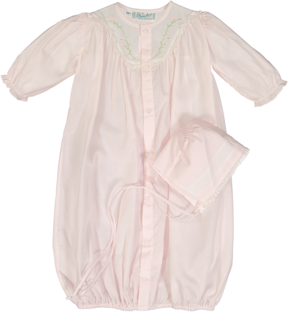 Feltman Brothers Girls Embroidered Yoke Take Me Home Gown