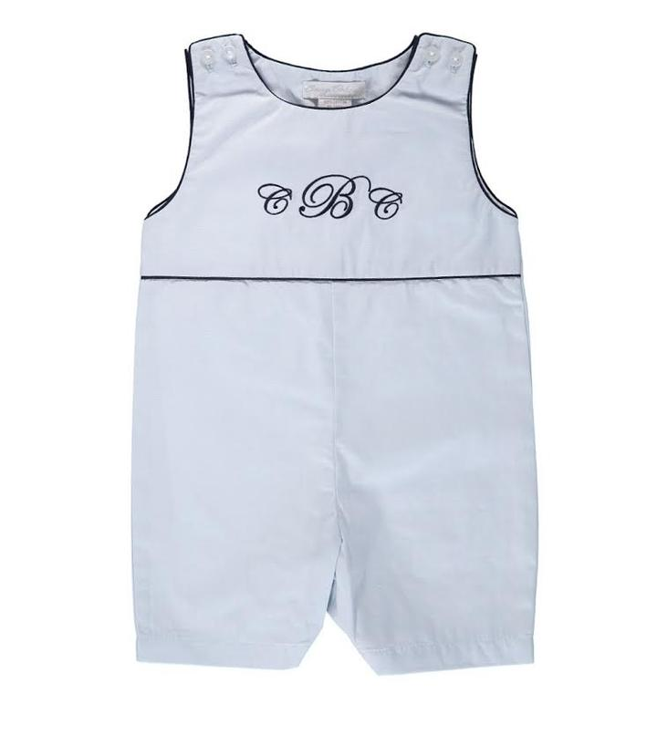 Carriage Boutique Monogrammable Blue Shortall