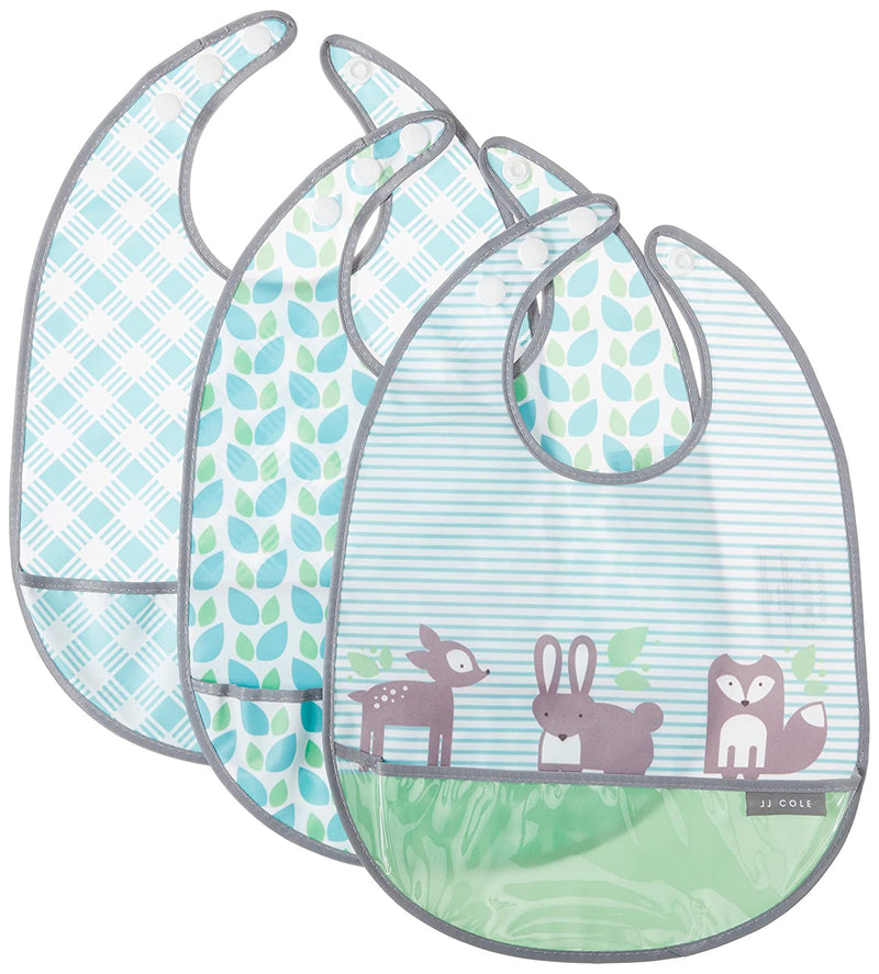 JJ Cole Bib Set, Forest/Fauna (Pack of 3)