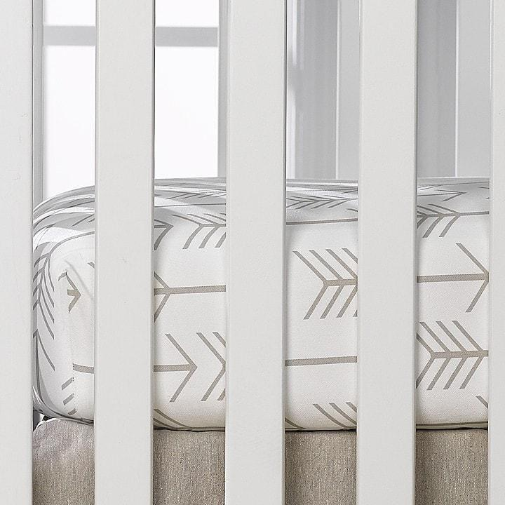 Liz & Roo Tan Arrow Crib Sheet