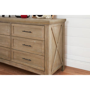 Franklin & Ben Emory Farmhouse 6-Drawer Dresser