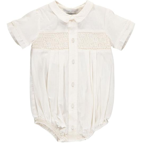 Carriage Boutique Boy's Hand Smocked Special Occation Creeper and Bonnet