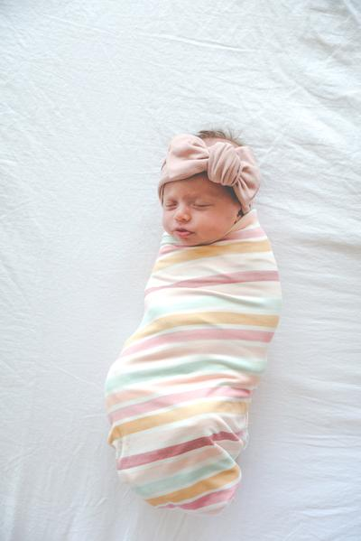 Copper Pearl Knit Swaddle Blanket - Belle