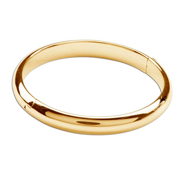 Cherished Moments Gold Plated Classic Bangle