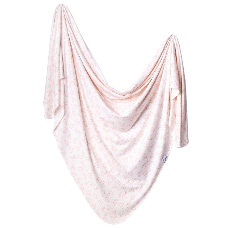 Copper Pearl Knit Swaddle Blanket - Lola