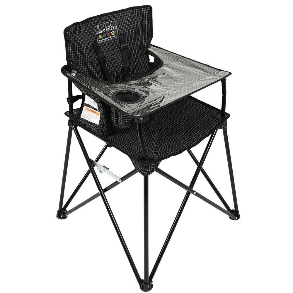 Ciao! Baby Portable High Chair - Black Check