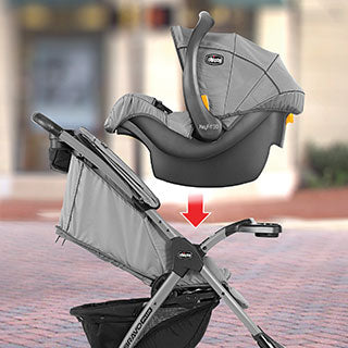 Chicco Mini Bravo Sport Travel System- Slate