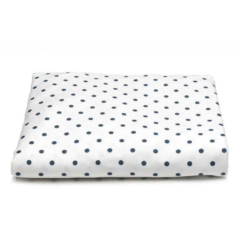 Sissy & Sawyer Navy Mini Dots Crib Sheet