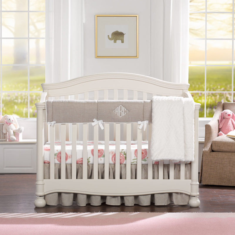 "Sissy & Sawyer ""Penelope"" Linen Crib Bedding II 4-pc. Set"