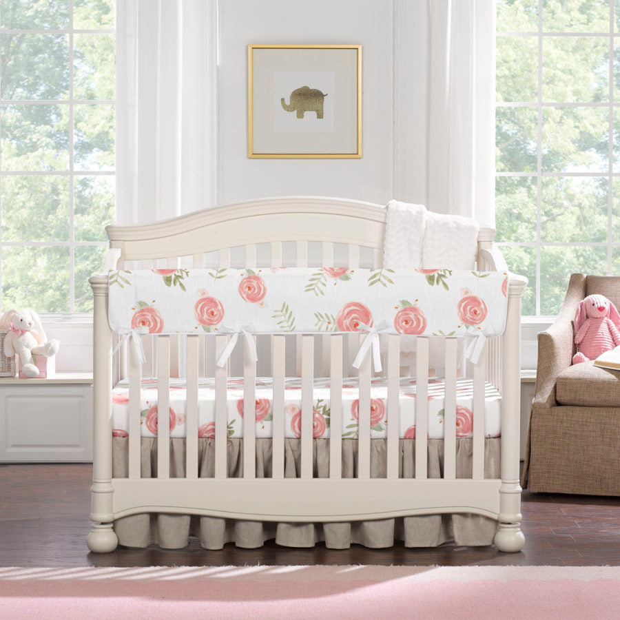 "Sissy & Sawyer ""Penelope"" Linen Crib Bedding 4-pc. Set"