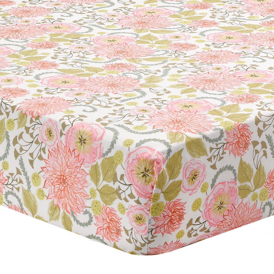 "Sissy & Sawyer ""Anna"" Floral Crib Sheet"