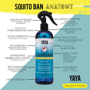 YAYA's Squito Ban Nautral Mosquito Repellent