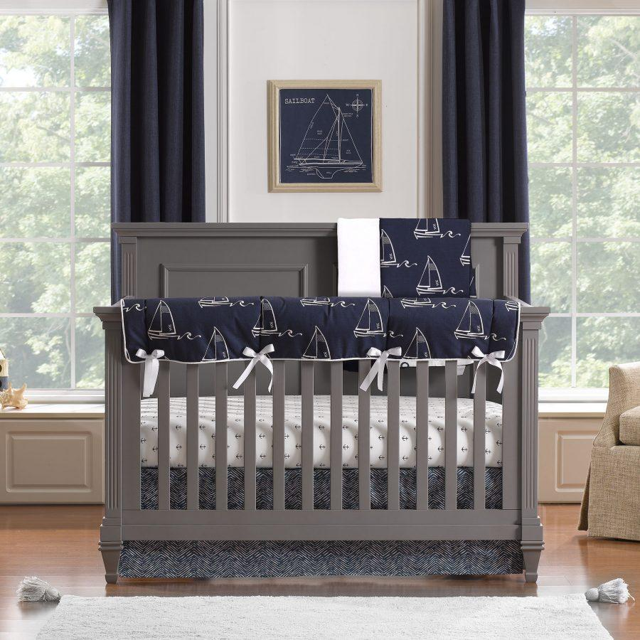 "Sissy & Sawyer ""Theo"" Bumperless Crib Bedding 4-pc. Set"