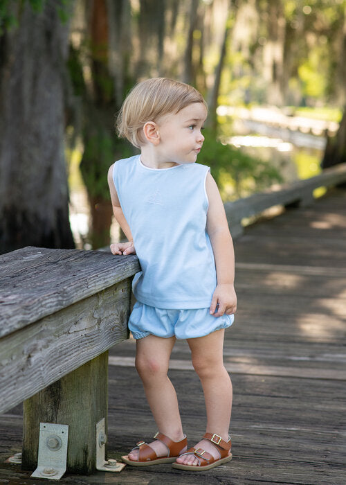 Lullaby Set Stephan Sailboat Shirt and Short Set
