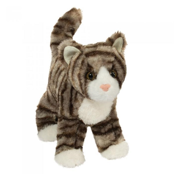 Douglas Zigby Plush Gray Stripe Cat