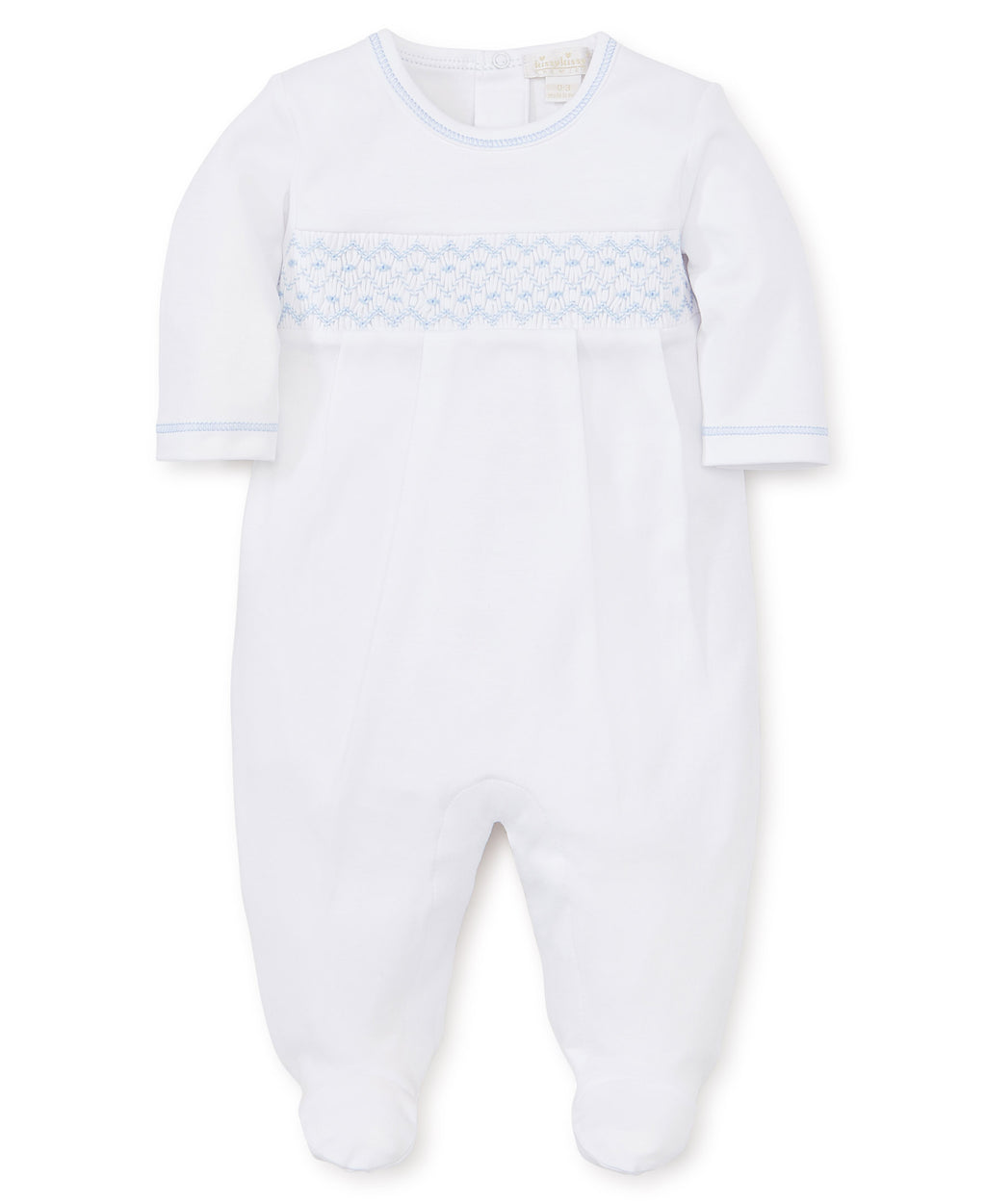 Kissy Kissy Boy's Footie with Handsmock White/ Lt Blue