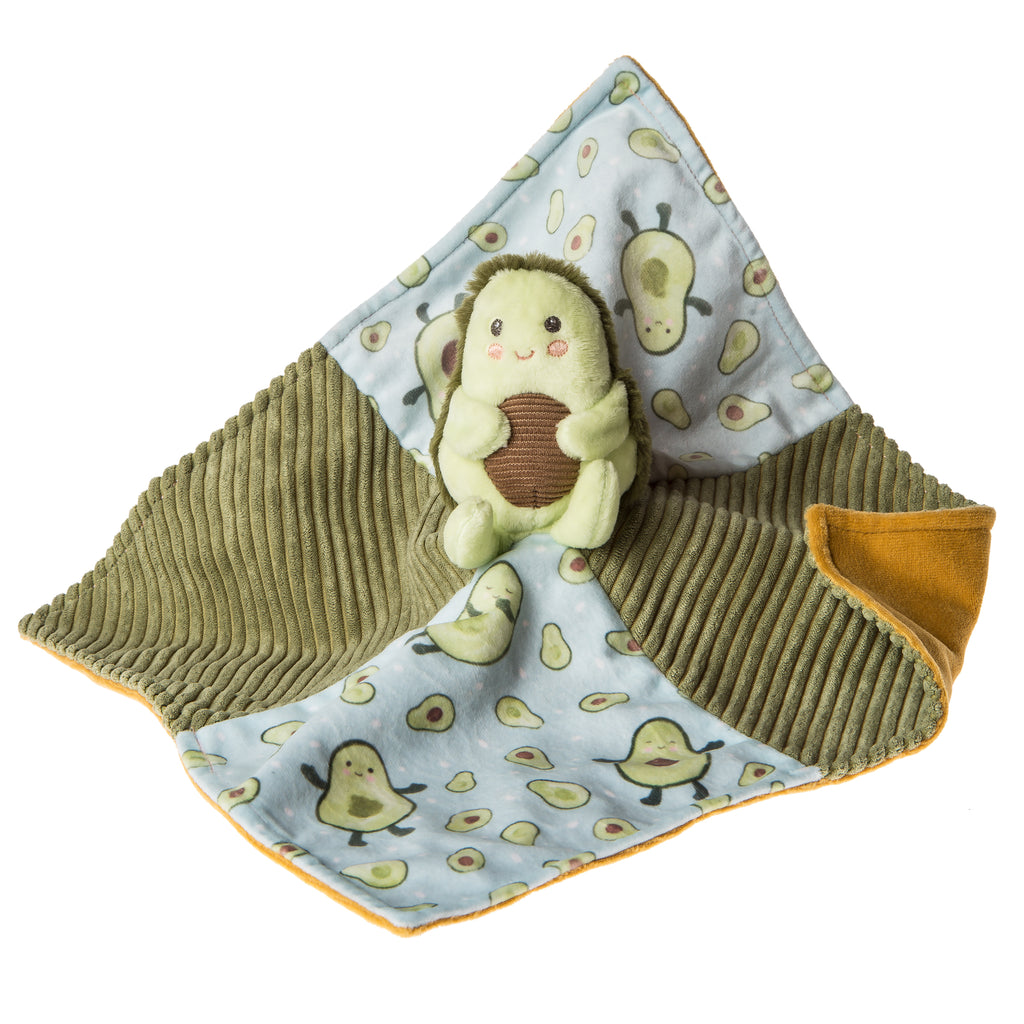 Yummy Avocado Character Blanket – 13×13″