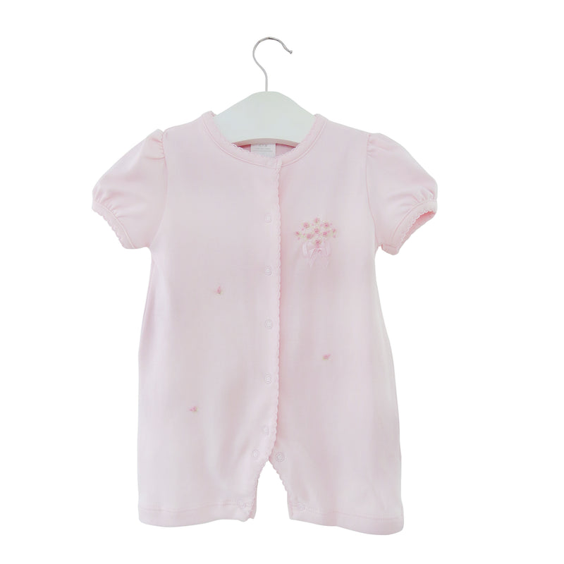 Lyda Baby Short Coverall Pink Bouquet