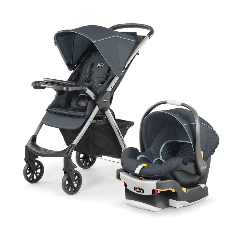 Chicco Mini Bravo Plus Travel System - Midnight