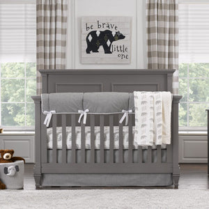 "Sissy & Sawyer ""Emmett Gray"" Crib Bedding 3-pc. Set"