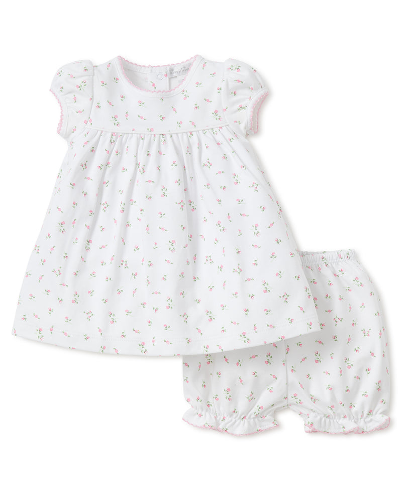 Kissy Kissy Garden Roses Print Year Dress with Diaper Cover