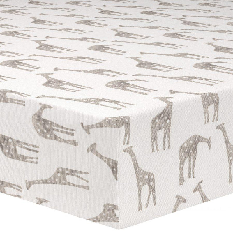 "Sissy and Sawyer ""Miles"" (Taupe) Crib Sheet"
